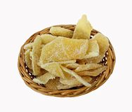Dehydrated Ginger Root Slices Royalty Free Stock Photo