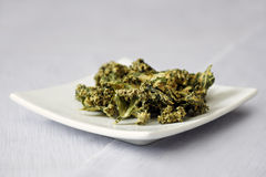 Dehydrated Kale Chips Royalty Free Stock Images
