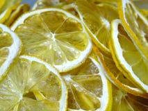 Dehydrated Lemon Slices Macro Royalty Free Stock Photo