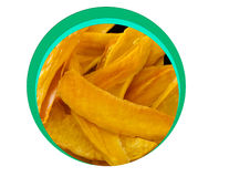 Dehydrated snack-bite Mango Products Stock Images