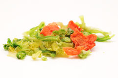 Dehydrated vegetables. A pile of Dehydrated vegetables Royalty Free Stock Photos