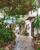 Deià镇在马略卡海岛,西班牙 免版税图库摄影