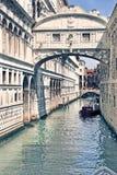dei意大利ponte sospiri威尼斯 库存照片