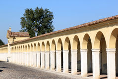 Dei Cappuccini de Loggiato dans Comacchio, Italie Photo libre de droits