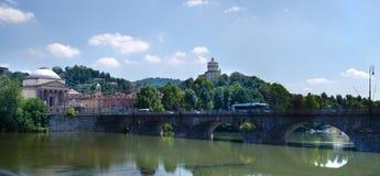 Dei Cappuccini di Monte e chiesa di Gran Madre, Torino fotografie stock