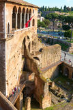 Dei Cavalieri di Rodi de maison dans le forum d'Augustus à Rome Photo stock