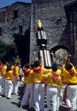 Dei Ceri de Corsa do La em Gubbio. Região Úmbria, Italy Fotos de Stock Royalty Free