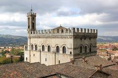 Dei Consoli di Palazzo in Gubbio, Italia fotografia stock