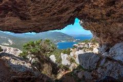 Dei de Grotta Vasi Rotti dans le capo Caccia images stock