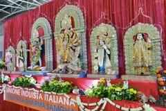 Dei di Hinduismo e statue delle dee fotografia stock libera da diritti