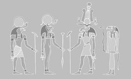 Dei egiziani e simboli Fotografia Stock