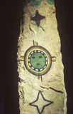 Dei indiani della stella di arte della roccia, museo di Chicago Fotografia Stock Libera da Diritti