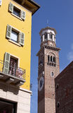 Dei Lamberti de Torre em Verona Fotos de Stock Royalty Free