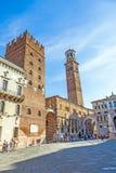 Dei Lamberti di Torre nel delle della piazza Fotografie Stock Libere da Diritti