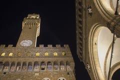 Dei Lanzi de Palazzo Vecchio et de bungalow à Florence Photos stock