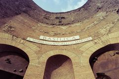 Dei Martiri Angeli ε degli της Σάντα Μαρία στη Ρώμη Στοκ φωτογραφία με δικαίωμα ελεύθερης χρήσης