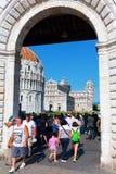 Dei Miracoli de la plaza en Pisa, Italia Imagen de archivo libre de regalías