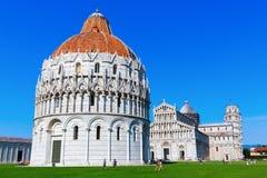 Dei Miracoli de la plaza en Pisa, Italia Fotos de archivo