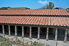 Dei Misteri βιλών στη archeological περιοχή της Πομπηίας Στοκ Φωτογραφία