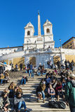 Dei Monti de Steps Scalinata di Trinita d'Espagnol à Rome, Italie Photos libres de droits