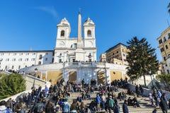 Dei Monti de Steps Scalinata di Trinita d'Espagnol à Rome, Italie Photographie stock libre de droits