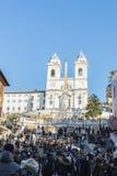 Dei Monti de Steps Scalinata di Trinita d'Espagnol à Rome, Italie Photos stock