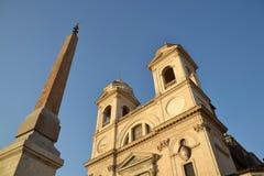 Dei Monti de Trinita da igreja em Roma, Italy Fotos de Stock