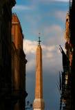 Dei Monti - Roma - Italy de Trinità do Obelisk Imagem de Stock