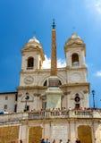 Dei Monti Trinita εκκλησιών στη Ρώμη Στοκ Εικόνες