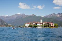 Dei Pescatori de Isola en el lago Maggiore de Italia Foto de archivo libre de regalías