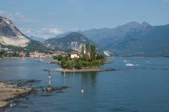 Dei Pescatori de Isola, ilha do pescador no lago Maggiore, Borromea imagem de stock royalty free