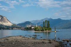 Dei Pescatori de Isola, ilha do pescador no lago Maggiore, Borromea fotos de stock royalty free