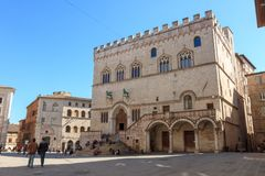Dei Priori de Palazzo, Perugia, Itália Foto de Stock