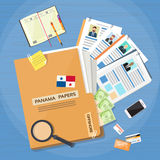 Dei proprietari di Papers Folder Documents Company gente di affari offshore royalty illustrazione gratis