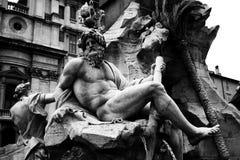 Dei Quattro Fiumi de Fontana Fotografía de archivo libre de regalías