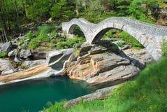 Dei Salti, Lavertezzo, Ticino de Ponte Image stock