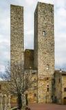 Dei Salvucci Torri, San Gimignano, Италия Стоковая Фотография RF