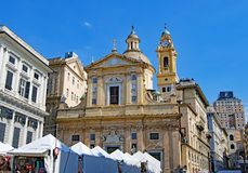 Dei Santi Ambrogio e Andrea de Chiesa del Gesu, à Gênes, l'Italie chez Pâques 2019 photographie stock