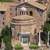 Dei Santi Cosma e Damiano van de basiliek Royalty-vrije Stock Foto