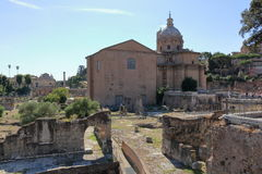 Dei Santi Luca e Martina de Chiesa dos di Nerva de Foro Imagem de Stock