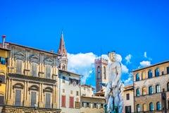 Dei Signoria de la plaza en Italia, Florencia Foto de archivo libre de regalías