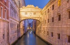 Dei Sospiri di Ponte - di Venezia nella mattina Fotografia Stock Libera da Diritti