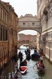 Dei Sospiri Ponte в Венеции - Италии Стоковая Фотография