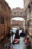 Dei Sospiri Ponte в Венеции - Италии Стоковые Изображения RF