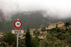 Deià in the Tramuntana mountains of Majorca Royalty Free Stock Photo