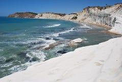 斯卡拉dei Turchi,西西里岛 库存图片