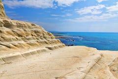 斯卡拉dei Turchi,西西里岛,意大利 库存照片