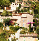 Deia village in Mallorca, Spain. Mountain village Deia in Majorca, Mallorca, Spain Royalty Free Stock Photo