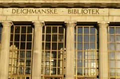 Deichman Bibliothek lizenzfreies stockfoto