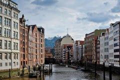 Deichstrasse en Hamburgo foto de archivo